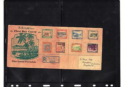 Niue, First Day Cover, 1950 To England