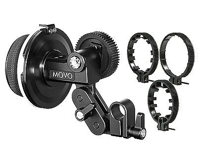 Movo F1X Follow Focus System with 66mm, 77mm & 88mm Adjustable Gear Rings