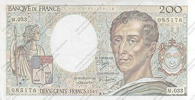 France billet de 200  FRS montesquieu 1985