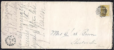 Postal History, Split Ring Cancel, SHERBROOKE C.E, 1878