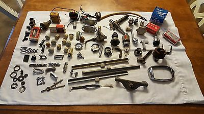 Bundle of Vintage Small Car knobs emblems switches etc