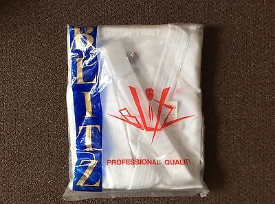 Blitz Adults Brand New Karate Suit Set, Size 170cm, White, Belt Included
