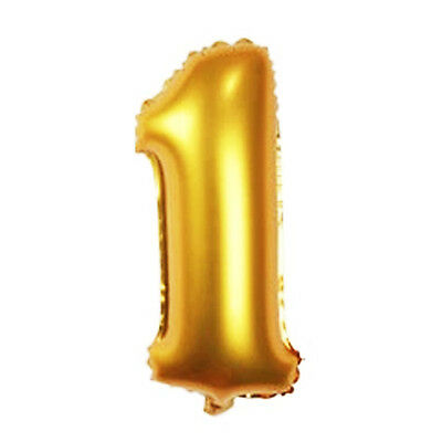 16 Inch Gold Arabic Number Foil Balloon Wedding Birthday Party Decor Number 1