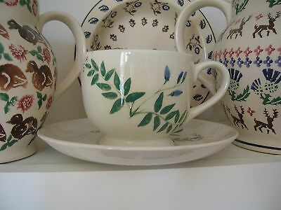 Emma Bridgewater rare Tufted Vetch Waterfield Range 1988 Cup and Saucer