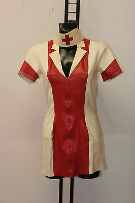 80-Rubber nurse-Vestito in latex da infermiera taglia M-L