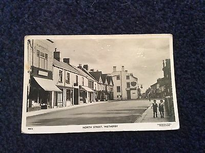 WETHERBY, NORTH STREET, 1952 real photo postcard.