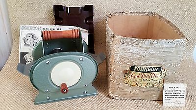 Johnson Card shuffler, card holder and instructions