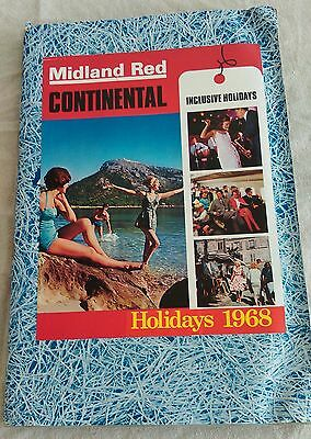 Vintage Hand Made Holiday Scrapbook 1968 Midland Red Continental