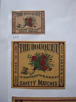 Pair Of Old Swedish Bouquet Matchbox Labels.