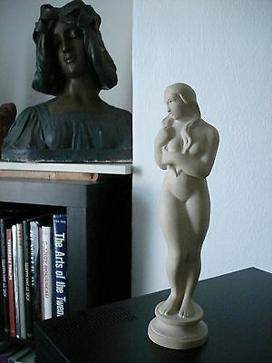Exquisite Original  Fully Marked Art Deco Sculpture Of A Standing  Figure.