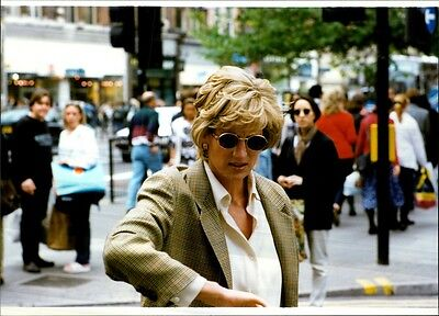 Vintage photo of Paparazzi picture of Princess Diana taken in an unknown context