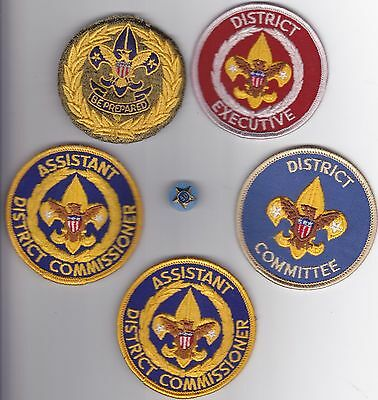 BSA Scout Executive Boy Scout Patch Lot with 30 yr pin