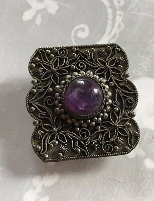 Vintage Chinese Silver Brooch Clip.