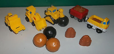 Lot of Fisher Price Geotrax Construction Vehicles and Accessories