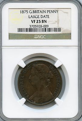 Amazing 1878 NGC VF25 BN Great Britain Penny Large Date NC901