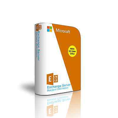 Exchange Server 2016 - Standard Edition 64 Bit Complete with 25 User CAL License