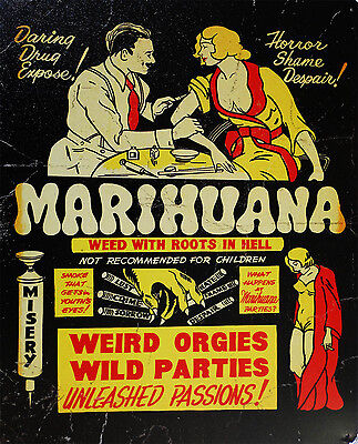 Marihuana-Roots In Hell (metal sign)
