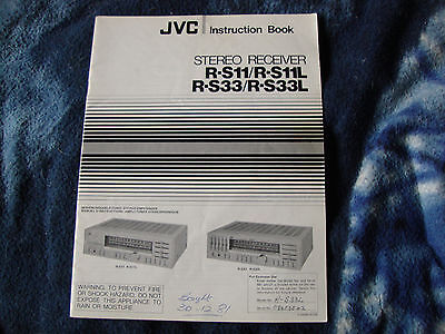 Jvc Stereo Receiver Manual R-S11/S33