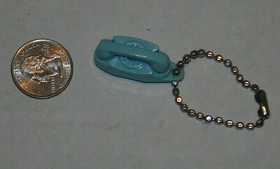Vintage Tupperware THE PRINCESS PHONE Keychain Its LITTLE Lovely LIGHTS 59' Blue