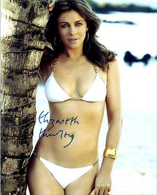 "Elizabeth Hurley 8X10"" SIGNED AUTOGRAPH REPRINT-PHOTO,"