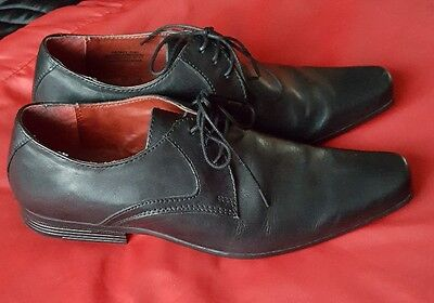 Men Next Hell For Leather Smart Shoes Size Uk7 Black Leather Lace Up