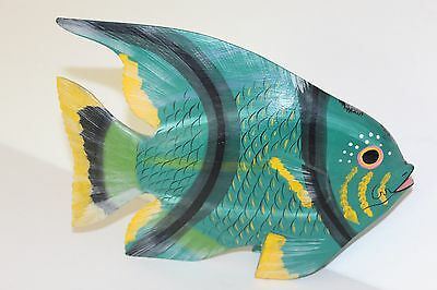 Hand Carved and Painted Colorful Wooden Fish