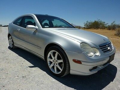 2004 Mercedes-Benz C-Class Base Coupe 2-Door 2004 MERCEDES C320 SPORT COUPE RARE 6 SPEED 57000 MILES PANORAMIC ROOF XINT COND