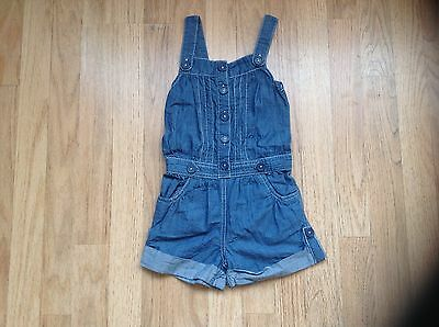 Girls Denim dungaree shorts to fit 5 years