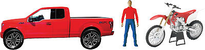 NewRay Ford F-150 Light/Sound with Dirtbike  Red