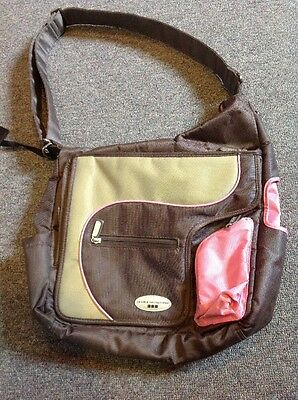 JJ Cole Collections System 180 Diaper Bag- Brown Pink