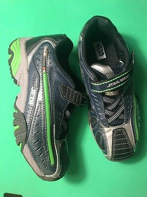 Star Wars Shoes Boys Size 2 Youth Navy Green Shoes Sneakers Lightup