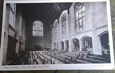 Vintage postcard The Chapel The College Malvern