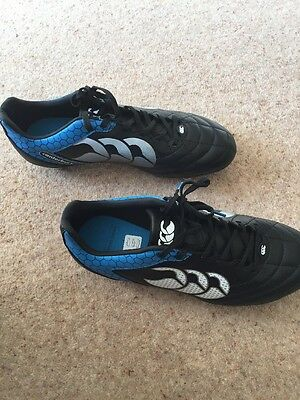 Brand New Canterbury Stampede Club 8 Stud Rugby Boot - Black and Blue Size 8