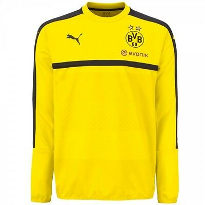 BORUSSIA DORTMUND Mens Yellow 2016/17 PUMA Football Training Sweater Top XS BNWT
