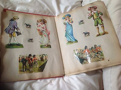 Victorian Scrap Book Cards And Pictures