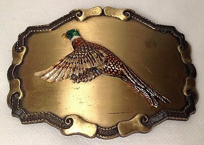 Pheasant Belt Buckle 1977 1978 RAINTREE Buckle FREE SHIPPING