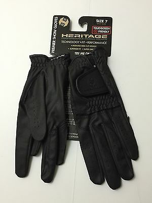 Heritage Performance Riding Premier Show Gloves Touch Screen Friendly Size 7