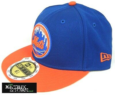 New Era Screwball Shiner Kids 59Fifty Fitted Cap - New York Mets - Blue/orange