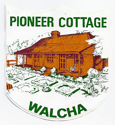 Pioneer Cottage, Walcha, New South Wales, Australia sticker