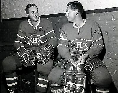 Jean Beliveau with Bobby Rousseau Montrreal Canadiens Unsigned 8x10 Photo