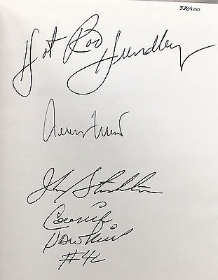 John Stockton Jerry West Hot Rod Hundley Hawkins Signed Book Leatherbound # 339