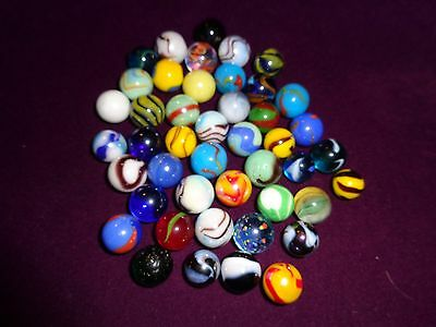 30 Old Playing Marbles Lot