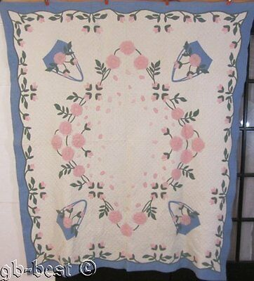 HISTORICAL Marie Webster c 1920s Magpie Rose Vintage Applique Quilt PUBLISHED