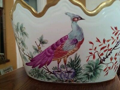 Mottahedeh Chelsea Birds Scalloped Bowl Planter WILLIAMSBURG Mint Cond.
