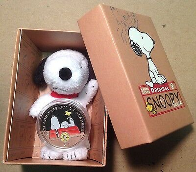 2010 British Virgin Islands $1 Coin Peanuts 60th Anniversary Snoopy with Box