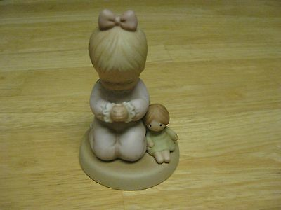"Memories of Yesterday 1989 Figurine ""I Pray The Lord My Soul To Keep"" Girl"