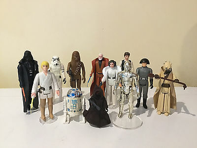 ⬛⬛ Vintage Star Wars Kenner First 12 Set Near Mint Complete NO REPRO ⬛⬛