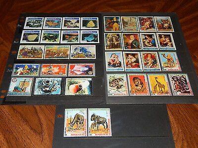 Equatorial Guinea stamps - 35 mint hinged and CTO stamps - nice group !!