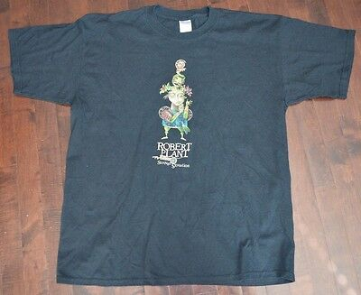 ROBERT PLANT and the STRANGE SENSATION 2005 Concert Tour Shirt XL (2-Sided)