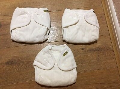 NEW 3 x One Life Nappy covers wraps  One Size Cloth Washable Nappies 80% Cotton
